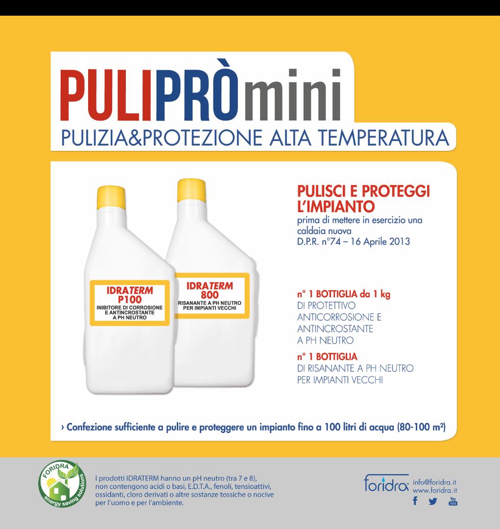 Pulipr mini kit di pulizia impianto riscaldamento caldaia - Pulizia ugelli scaldabagno gas ...